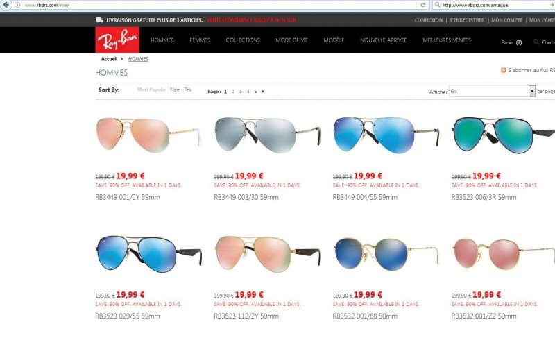 arnaque ray ban