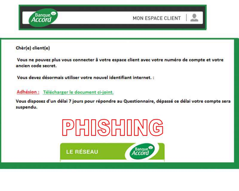 accord alerte banque accord arnaque phishing. Black Bedroom Furniture Sets. Home Design Ideas