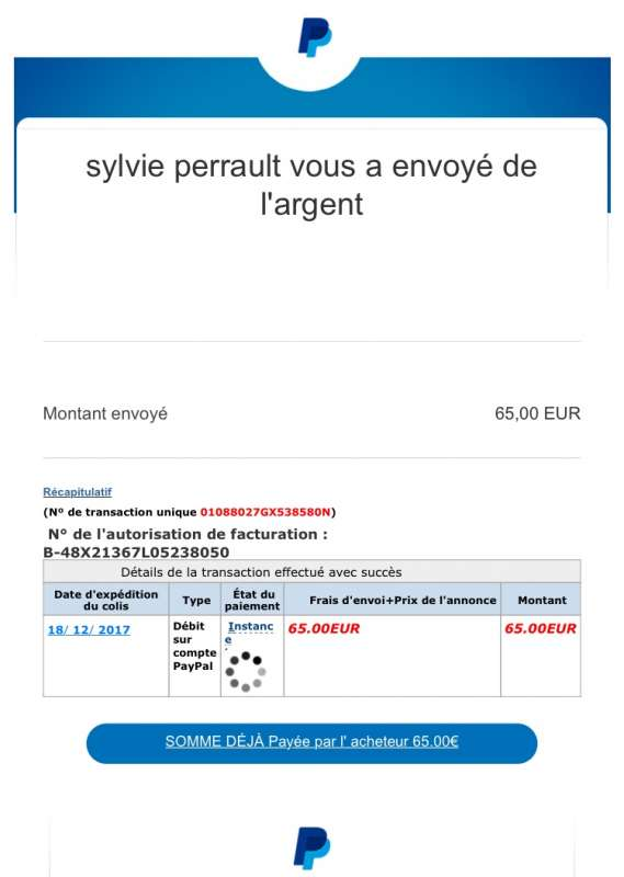 Virementcertificateeurochf At Gmailcom Paypal Member Scam
