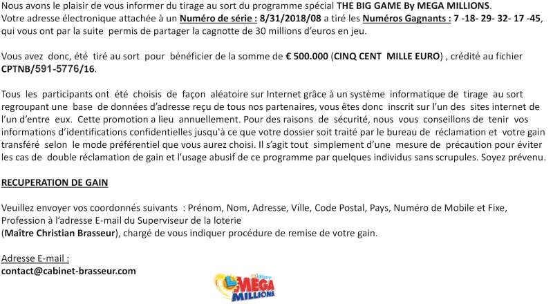 oya@noos fr | patrick chauvin | Lottery Scam