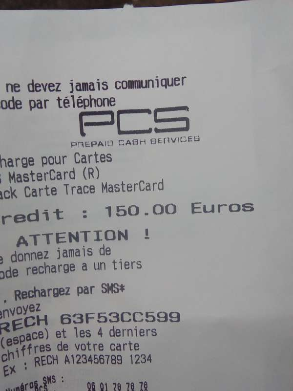Coupons pcs de 250 e